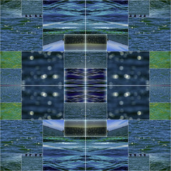 Sea Rhythms... (soniaadammurray - On & Off) Tags: digitalphotography manipulated experimental collage picmonkey photoshop abstract sea blue shapes repetition rhythm nature artchallenge artweekgallerygroup