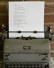 In Memoriam. Please read notes. (remiklitsch) Tags: alzheimers memoriam poem typewriter remiklitsch nikon royal cbmiklitsch vintage manual house redbrick red table