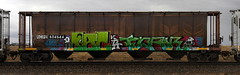 Pac/Tenfor (quiet-silence) Tags: graffiti graff freight fr8 train railroad railcar art pac tenfor kta hopper rcpe rcpe604644