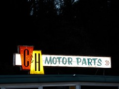 C & H Motor Parts sign - Placerville, California (Mitch O) Tags: away far near california placerville retrosign sign