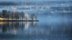 Morning by the lake (Dreamy Pixel) Tags: above aerial alps background beautiful beauty blue bohinj calm cold concept environment europe european fog foggy green idyllic lake landscape mist mountain mountains national nature outdoor outdoors park peaceful reflection scene scenery scenic season shore sky slovenia snow storm tourism tranquil travel tree trees triglav view water white winter wooden