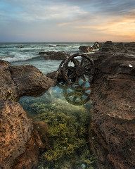 Drown Me Slowly (Emerald Imaging Photography) Tags: windang windangisland shellharbour windangwheels sunrise sunset seaweed rocks cloud clouds sydney wollongong kiama newsouthwales nsw australia australian australianlandscape australianseascape reflections reflection