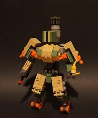 Bastion (Sebastian Wesley) Tags: overwatch lego bastion robot mech bird yellow tan
