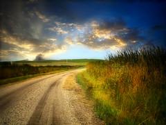 Prairie road 26 (mrbillt6) Tags: landscape rural prairie road gravel grass sky photoart outdoors country countryside northdakota
