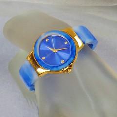 Ladies Watch. Joan Rivers Blue Sky Watch. Women's Blue White Marbled Lucite Watch. Blue Joan Rivers Watch. waalaa. (waalaa) Tags: etsy vintage antique shopping jewelry jewellery gifts wedding