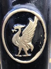 Liverpool Street bollard in Anfield (Flikrman Gaz) Tags: liverbird anfield liverpool
