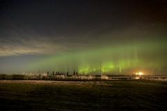 maybe tonight? (John Andersen (JPAndersen images)) Tags: alberta aurora farm mossleigh night