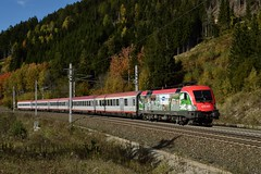 470 005, IC 690 ( Wien Westbf  > Villach ). Kolbnitz (M. Kolenig) Tags: 470 baum herbst intercity tauernbahn
