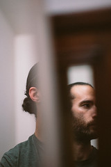 FEB-12 • Now that you've grown up (Gregory Criteau) Tags: 365 self portrait mirrors man skin thin ben harper beard reflection