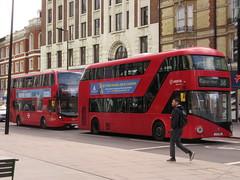 Go Ahead London EH205 & Arriva London LT185 (Teek the bus enthusiast) Tags: victoria putney bridge route 36 507 london buses go ahead abellio metroline tower transit national express