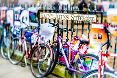 Cambridge (judy dean) Tags: judydean 2019 cambridge lensbaby saintjohnsstreet bikes poster fence 365the2019edition 3652019 day75365 16mar19 52in2019 18transport