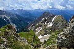 Mittenwald - View Into Austria (cnmark) Tags: germany deutschland bayern bavaria mittenwald karwendel nördliche linderspitze clouds wolken blue sky outdoors mountans mountain range gebirgskette alpen alps landscape austria österreich ©allrightsreserved