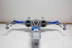 (Improved) Standard Resistance X-wing: Front View (Evrant) Tags: lego star wars custom x wing moc starfighter spaceship starship ship t70 t 70 resistance evrant