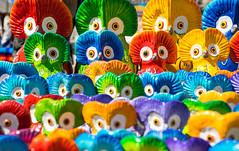 Colorful Guatemalan clay owls (wuestenigel) Tags: owls colors clay handmade typical colorful guatemalan art kunst design decoration dekoration color farbe bright hell toy spielzeug pattern muster abstract abstrakt illustration nature natur desktop motley bunt noperson keineperson fun spas texture textur graphic grafik festival child kind symbol summer sommer