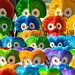 Colorful Guatemalan clay owls