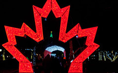 Canadian Lights (J.R. Rondeau) Tags: rondeau windsor ontario colours colors bright lights christmaslights christmasdecorations brightlights canoneos tamron2875 photoshopelements10