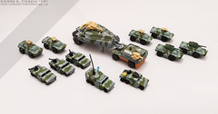TRIAX FORWARD TASKFORCE (Pierre E Fieschi) Tags: micromachine micromachines micro machine triax megaforce mega force kenner toys kennertoys nostalgia 90s 80s painted handpainted modified 3d printing tank armored taskforce vehicle pierree pierre fieschi