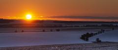 Sunset Over the Distant Ridge (stevedewey2000) Tags: salisburyplain wiltshire landscape winter snow sunset orange gold golden red 2351 tamron150600
