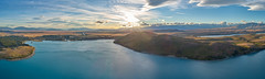 Lake Tekapo : DJI Phantom 4 Pro (Rey.M) Tags: dji djiphantom4pro djip4p phantom 4 pro drone aerial flight aerialphotography view sunset glow p4p lake tekapo mackenzie district new zealand newzealand