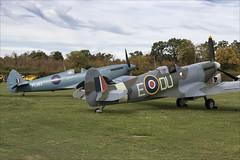 Supermarine Spitfire PRXI and LFVc - 01 (NickJ 1972) Tags: shuttleworth collection oldwarden race day airshow 2018 aviation supermarine spitfire prxi pr11 xi gprxi pl983 lfv lf5 v gawii ar501 due