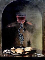 IMG_5672 Simon Luttichuys. 1610-1661 Amsterdam.  Nature morte un verre de vin et un petit pain. Still Life a Wine Glass and a Bread Roll.   Hambourg Kunsthalle.   Peintre d'origine anglaise.Painter of English origin. (jean louis mazieres) Tags: peintres peintures painting musée museum museo deutschland germany allemagne hamburg kunsthalle