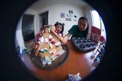 4991 Roundly (mliu92) Tags: home sanmateo gingerbread house candy frosting calcifer son figgy daughter belomo peleng 835