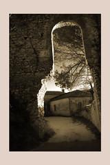 Vicalvi (sandrorotonaria) Tags: vicalvi ciociaria castle sephia town stone bw rust gate sunset