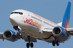 Boeing 737-300 jet2 G-GDFB cn 25743/2206 (Guillaume Besnard Aviation Photography) Tags: lebl bcn barcelona barcelonaairport barcelonaelprat canonef500f4lisusm plane planespotting spotting canoneos boeing737300 jet2 ggdfb cn257432206 boeing737 jet2holidays