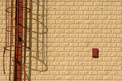 Brown staircase (Jan van der Wolf) Tags: map181196v stairs stairway staircase brown trap wall muur facade gevel gebouw shadow shadowplay schaduw schaduwen schaduwspel fuerteventura bricks bakstenen