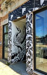 Great Blue Heron by ??? (wiredforlego) Tags: graffiti mural streetart urbanart aerosolart publicart chicago illinois ord