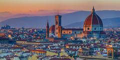 Enlightenment... (Howard Brown Photographic) Tags: firenze florence tuscan toscana tuscany sunset italy italia italian renaissance skyline urban city light