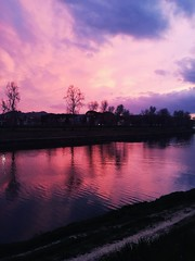 •Florence• (federicaditora) Tags: wonder nature colors winter sunset arno river water tuscany florence italy light