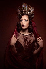 Mis Apple (Wurmwood Photography) Tags: nikon godox fovitec art artsy creative ethereal religious myth fantasy red crown designer hysteriamachine beauty makeup women woman girl face hair eyes light lighting rembrandt classic classical color colorful colour portrait people