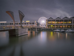 Somewhere in this Faded World (Wizard CG) Tags: bristol england united kingdom bridge sculpture horned peros counterweights light dockside harbour harbourside water stillness river avon longexposure olympus epl7 waterfront world trekker ngc