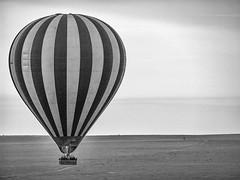 Balloon over Serengeti BW (raddox) Tags: africa tanzania serengeti balloon