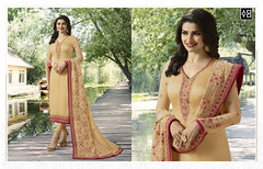 Designer Beige #StraightSalwarSuit Online On #YOYOFashion. (yoyo_fashion) Tags: style fashion dresses suits shopping offers womenwear designerdress look lookbook womenwearsuit partywear officewear indianwedding womenfashion outfitinspo ethnic indianfashion