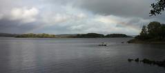 Low Flying Rainbow (RoystonVasey) Tags: canon eos m 1855mm stm zoom eire republic ireland mayo galway loch coirib lough corrib sun rain