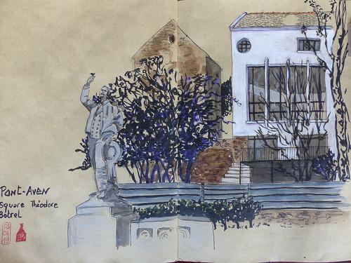 Fascinante maison d'artiste de 1946 à Pont-Aven derrière le square Théodore Botrel