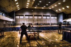 Even though I grow old I can not lose (Shigeo Kameshima) Tags: age oldage tabletennis practice couple gymnasium people life human silver willpower power happyplanet asiafavorites