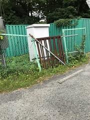 Broken fence (takitategohan) Tags: fence rust abandoned