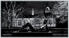 Kings college, Aberdeen (___INFINITY___) Tags: 6d aberdeen canonef1740mmf4lisusm kingscollege oldaberdeen outdoor universityofaberdeen architect architecture bluehour building canon chapel darrenwright dazza1040 eos flash infinity light lightpainting loungingyoungman magiclantern night scotland statue stobist strobist uk visit wideangle artinbw bw black white