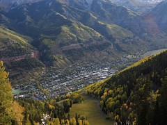 Telluride in Fall, as seen from above. (Ruby 2417) Tags: telluride gondola mountain mountains fall autumn rocky rockies colorado