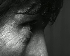 Black and white portrait morph. (kyliepics) Tags: olympus e520 evolt520 om50mmf18 yongnuoyn560ivflash darktable gimp winffffmpeg video blackwhite