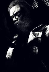 """Biker"" (L1netty) Tags: madmax avalanchestudios warnerbros pc game gaming pcgaming videogame reshade screenshot 6k srwe character max man male people face beard jacket light shadows blackandwhite monochrome bw indoor portrait"