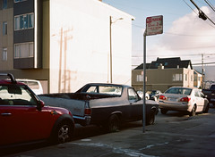 Sunset District // San Francisco (bior) Tags: pentax645nii pentax645 pentax 645 mediumformat 120 sanfrancisco sunsetdistrict portra160nc expiredfilm kodakportra street car elcamino sidewalk