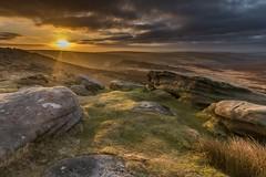 Higger (Alternate Views #5) (gavsidey) Tags: higger tor sunrise ngc d500 glow early light rock rocks orange sky clouds derbyshire