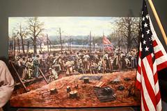 Battle of Arkansas Post (RPahre) Tags: arkansas arkansaspost arkansaspostnationalmemorial flag battle painting civilwar