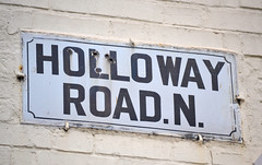 Holloway Road N (R~P~M) Tags: islington london england uk unitedkingdom greatbritain upperholloway sign enamel vitreousenamel