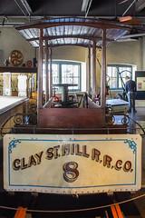 Cable Car No. 8: Clay St. Hill R.R. Company (marylea) Tags: claysthillrrco claysthillrailroadcompany cablecar mar14 2019 sanfrancisco california cablecarmuseum museum oldestcablecarintheworld 1873 railroadcar no8cablecar