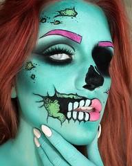 Halloween Makeup Ideas 🎃🎃🎃 (ineedhalloweenideas) Tags: ineedhalloweenideas halloween makeup make up ideas for 2017 happy night before christmas october 31 autumn fall spooky body paint art creepy scary pumpkin boo artist goth gothic